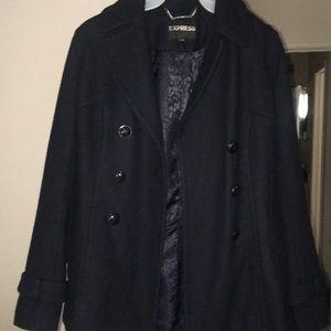 Express Jackets & Coats - Women's XS Navy Wool Peacoat